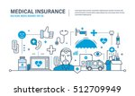 modern medicine and technology  ... | Shutterstock .eps vector #512709949