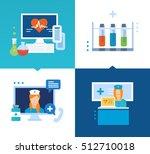 modern medicine and technology  ... | Shutterstock .eps vector #512710018