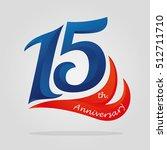 fifteen years anniversary... | Shutterstock .eps vector #512711710