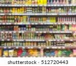 supermarket shelf defocus... | Shutterstock . vector #512720443