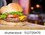 homemade hamburger with fresh... | Shutterstock . vector #512720470