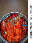 overhead view of maine lobster... | Shutterstock . vector #512721304