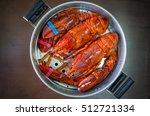 overhead view of maine lobster... | Shutterstock . vector #512721334