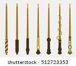 magic wands. magic and magical...   Shutterstock .eps vector #512723353