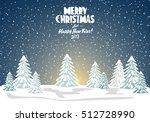 merry christmas card. vector... | Shutterstock .eps vector #512728990