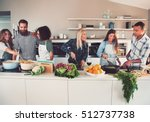 six mixed black and white... | Shutterstock . vector #512737738