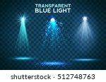 transparent blue ligthy effects ... | Shutterstock .eps vector #512748763
