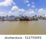 top view of ho chi minh city ... | Shutterstock . vector #512755093