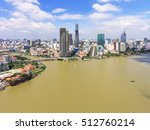 top view of ho chi minh city ... | Shutterstock . vector #512760214