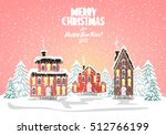merry christmas card. vector... | Shutterstock .eps vector #512766199