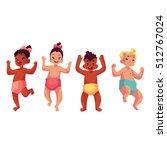 set of cute little babies  boys ... | Shutterstock .eps vector #512767024