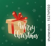 merry christmas card. cardboard ... | Shutterstock .eps vector #512769310