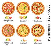 vector set of popular varieties ... | Shutterstock .eps vector #512773336
