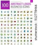 logo mega collection  abstract... | Shutterstock .eps vector #512778466