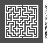 maze game. labyrinth. vector... | Shutterstock .eps vector #512778904