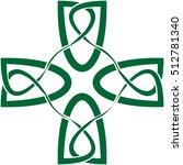 celtic cross in celtic knot...   Shutterstock .eps vector #512781340