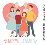 happy family. traditional... | Shutterstock .eps vector #512781640
