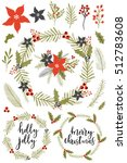 collection of vintage merry... | Shutterstock .eps vector #512783608