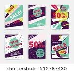 bright design sale set website... | Shutterstock .eps vector #512787430