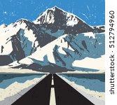 mountains road landscape.... | Shutterstock .eps vector #512794960