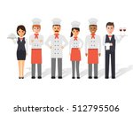 group of head chefs  man and... | Shutterstock .eps vector #512795506