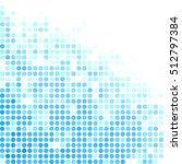 blue random dots background ... | Shutterstock .eps vector #512797384