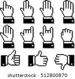 set of unusual hand cursors....