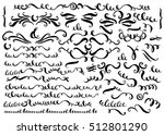 set of vector hand drawn... | Shutterstock .eps vector #512801290