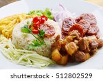 rice seasoned with shrimp paste ... | Shutterstock . vector #512802529