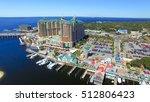 destin  florida. aerial view of ... | Shutterstock . vector #512806423