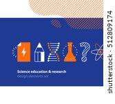 scientific research  science... | Shutterstock .eps vector #512809174