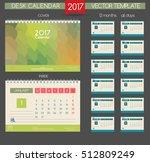 calendar 2017. vector templates ... | Shutterstock .eps vector #512809249