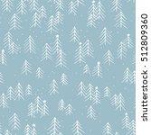 hand drawn winter seamless... | Shutterstock .eps vector #512809360