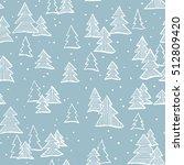 hand drawn winter seamless... | Shutterstock .eps vector #512809420