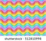 rainbow colors vector dotted... | Shutterstock .eps vector #512810998