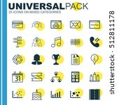 set of 25 universal editable... | Shutterstock .eps vector #512811178