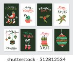 vector merry christmas greeting ... | Shutterstock .eps vector #512812534