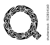 polynesian tattoo initials.... | Shutterstock .eps vector #512814160