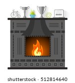 design of the fireplace. modern ... | Shutterstock .eps vector #512814640