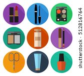 set of simple cosmetic flat... | Shutterstock .eps vector #512816764