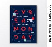 swiss style cyber monday sale...   Shutterstock .eps vector #512818366