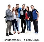 happy young group of people... | Shutterstock . vector #512820838