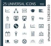 set of 25 universal editable... | Shutterstock .eps vector #512821810