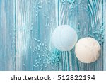 spa still life  closeup of blue ... | Shutterstock . vector #512822194