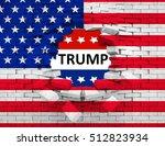 closeup of grunge american usa... | Shutterstock . vector #512823934