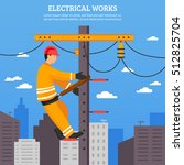 Electrical Works Flat Vector...