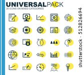 set of 25 universal editable... | Shutterstock .eps vector #512826694