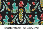 seamless indian pattern. set of ... | Shutterstock .eps vector #512827390