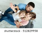 happy family mother and father... | Shutterstock . vector #512829958