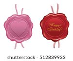 Red And Pink Wax Seal Design O...